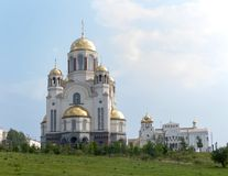 Church on the blood. Ekaterinburg. Khram na krovi  Church of All Saints  in Ekaterinburg, Russia  In honor of tzar Nikolay family Stock Image