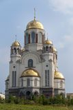 Church on the blood. Ekaterinburg. Khram na krovi  Church of All Saints  in Ekaterinburg, Russia  In honor of tzar Nikolay family Stock Photos