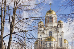 Church on Blood in Honor of All Saints Resplendent in the Russia Stock Photo