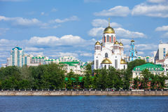 Church on Blood in Honour. The Church on Blood in Honour of All Saints Resplendent in the Russian Land is a Russian Orthodox church in Yekaterinburg, Russia Royalty Free Stock Photos
