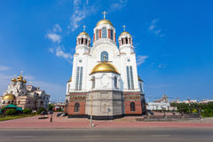 Church on Blood in Honour. The Church on Blood in Honour of All Saints Resplendent in the Russian Land is a Russian Orthodox church in Yekaterinburg, where Stock Photography