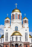 Church on Blood in Honour. The Church on Blood in Honour of All Saints Resplendent in the Russian Land is a Russian Orthodox church in Yekaterinburg, where Stock Image