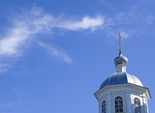Church on blue sky background Stock Photography