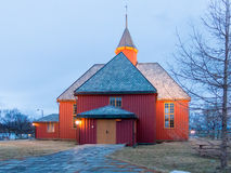 Church of Bo in Vesteralen, Norway Royalty Free Stock Images