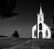 Church In Bodega Bay. Famous Church From The Hitchcock Movie The Birds royalty free stock photography