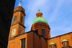 A church in Bologna, Italy royalty free stock image