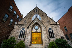 Church in Bolton Hill, Baltimore, Maryland. Stock Photography