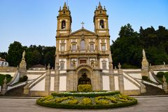 Church of Bom Jesus of Braga stock image