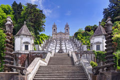 Church of Bom Jesus do Monte in Braga, Portugal. Stairway to the church of Bom Jesus do Monte in Braga, Portugal Stock Photos