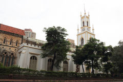 The church in Bombay. The white church in Bombay of India.Because of the colonial rule, India still retained a lot of the church Stock Photo