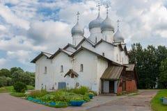 The Church of Boris and Gleb in Carpenters. Veliky Novgorod. Russia Royalty Free Stock Photography