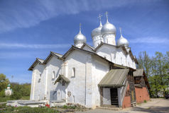 Church of Boris and Gleb at Plotniki. Stock Images