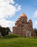 Church in Borodino Savior Convent. Russia Stock Photos