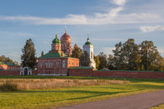 Church in Borodino Savior Convent. Russia royalty free stock photo