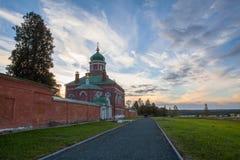 Church in Borodino Savior Convent. Russia Stock Photo
