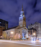 Church in Boston. Arlington Street Church in Boston, Massachusetts. The present building was completed in 1861 stock photos