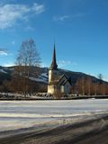 Church in bran䳢 size=. Picture of a church close to a swedish ski resort called bran Royalty Free Stock Photography