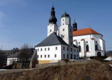 Church - Branna. Church, village - Branna, the Czech Republic Stock Image
