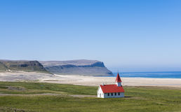 Church at Breidavik, Iceland Stock Images