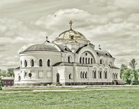 Church in Brest. Sacred Nikolay's church in the Brest fortress Stock Image