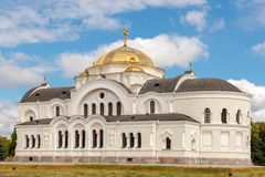 Church in Brest Fortress memorial. Royalty Free Stock Photos