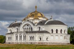 Church in Brest Fortress memorial. Royalty Free Stock Images