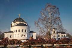 Church in Brest near the monument of World War II in Belarus Stock Photography