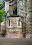Church Brickwork. An old fashioned church in a city showing off its brickwork Royalty Free Stock Image