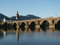 Church and bridge royalty free stock photos
