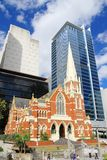 Australia, Queensland/Brisbane: Church and Office Towers Royalty Free Stock Photo