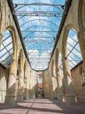 Church Broerekerk with modern glass roof in city of Bolsward, Fr Royalty Free Stock Image