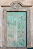 Church Bronze door Stock Image