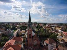 Church Bruederkirche Altenburg Germany market Stock Image