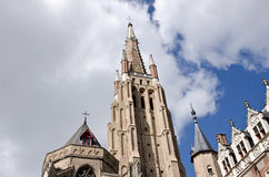 Church of Bruges, Belgium. Outdoor photography Stock Image