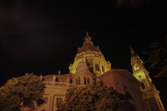 Church in Budapest at night Stock Images