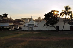 Church and Buddhist Temple, Galle, Sri Lanka Royalty Free Stock Photos