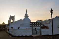 Church and Buddhist Temple, Galle, Sri Lanka Stock Image