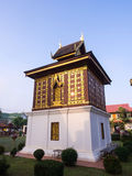 Church of Buddist book in unique Thai art Royalty Free Stock Photo