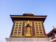 Church of Buddist book in unique Thai art Stock Images