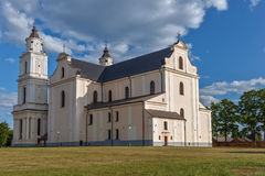 Church in Budslav. Famous catholical church in Budslav stock images