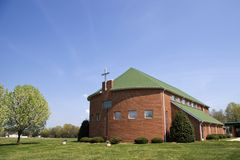 Church Building. In the Springtime, Pretty Blue Sky Royalty Free Stock Images