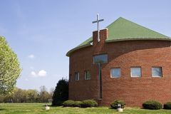 Church Building. In the Springtime, Pretty Blue Sky Royalty Free Stock Photo