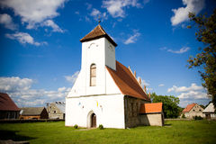 Church building with cross Stock Image