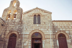 Church Building facade. Church Building. Beautiful facade in Greece, Corfu Stock Images