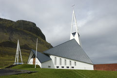 Church building in Iceland. Royalty Free Stock Images