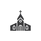 Church building icon vector, filled flat sign, solid pictogram i. Solated on white, logo illustration Royalty Free Stock Image