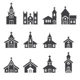 Church building icon Royalty Free Stock Photography