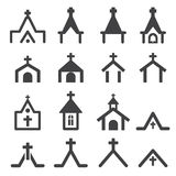 Church building icon Stock Image