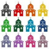 Church building icons set. Vector icon Stock Image