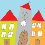 Church building illustration Royalty Free Stock Images